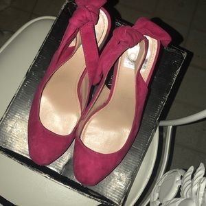 Pink suede shoes ( dolce vita)